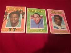 1971 Topps Football Mini Poster Lot O. J. Simpson