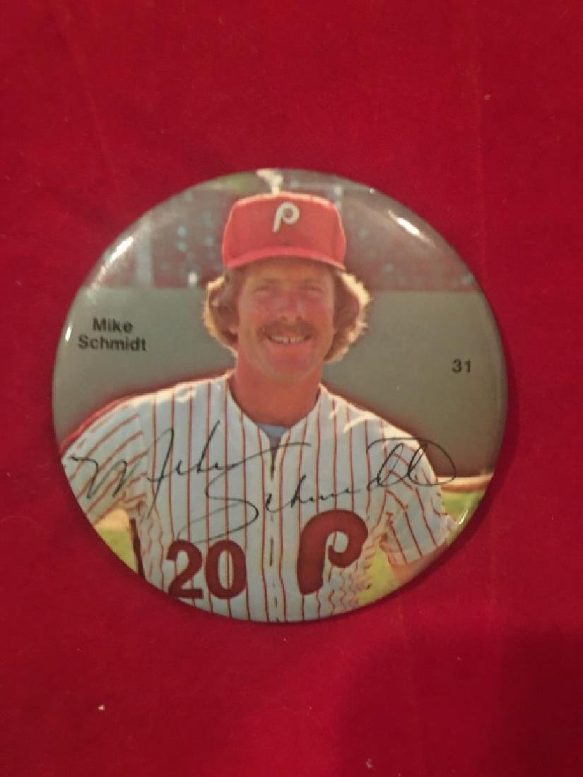 Mike Schmidt Phillies 1978 Photo Button