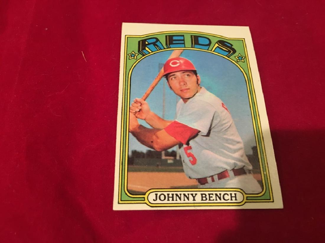 1972 Topps Baseball Card #433 Johnny Bench HOF