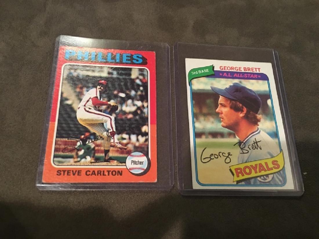 Steve Carlton 1975 Topps and George Brett 1980