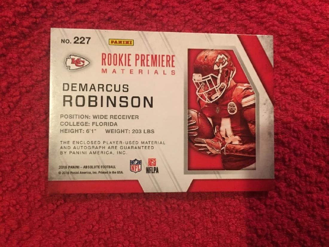 2016 Absolute Rookie Materials Auto Demarcus Robi - 2