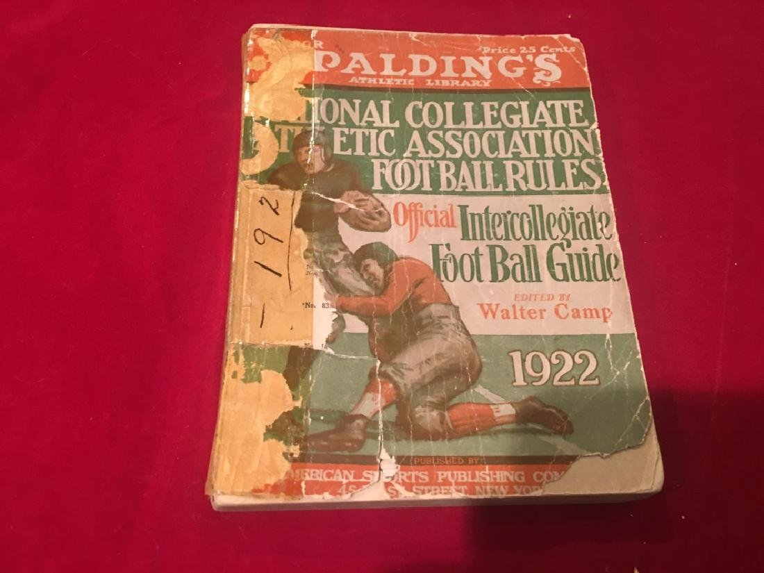1922 Spalding's Athletic Library Official Interco