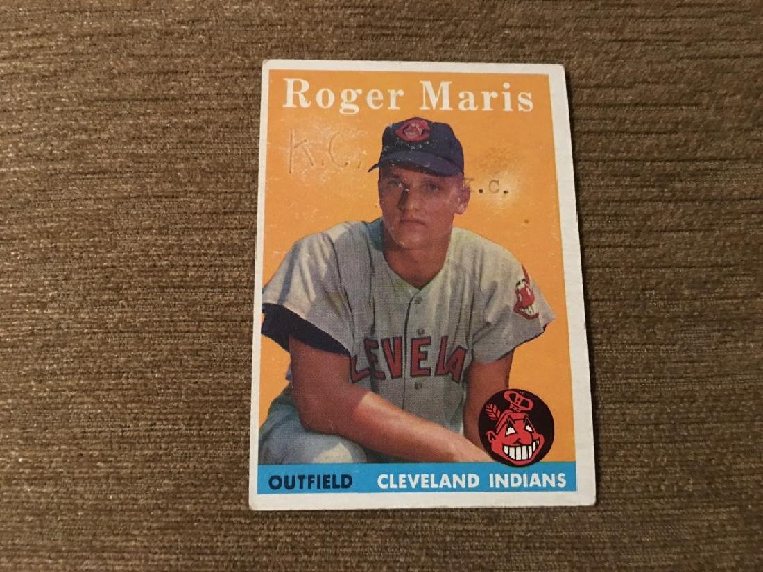 1958 Topps #47 Roger Maris P Poor RC Rookie Indias