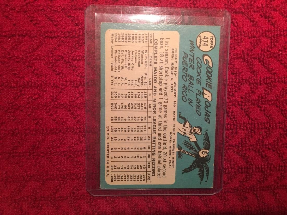 1965 TOPPS #474 COOKIE ROJAS - 2