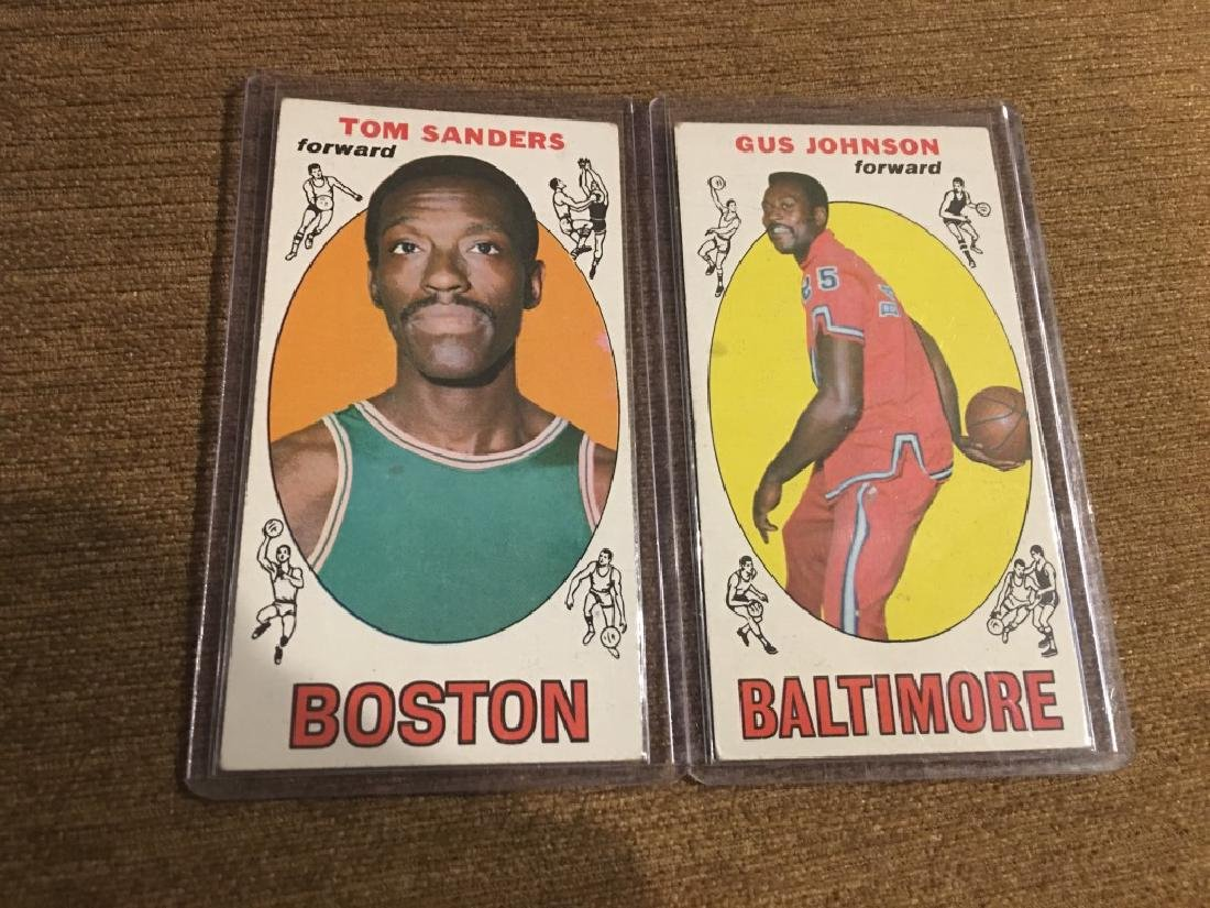 1969 Topps #12 Gus Johnson and Tom Sanders RC