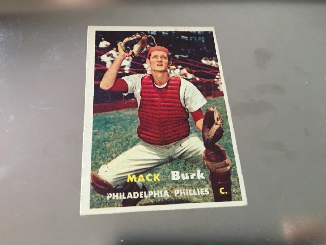 1957 Topps #91 Mack Burk - Philadelphia Phillies