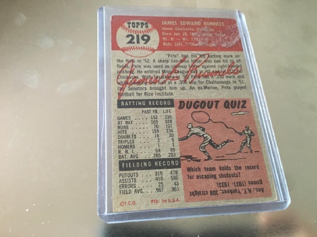 1953 Topps #219 Pete Runnels - 2