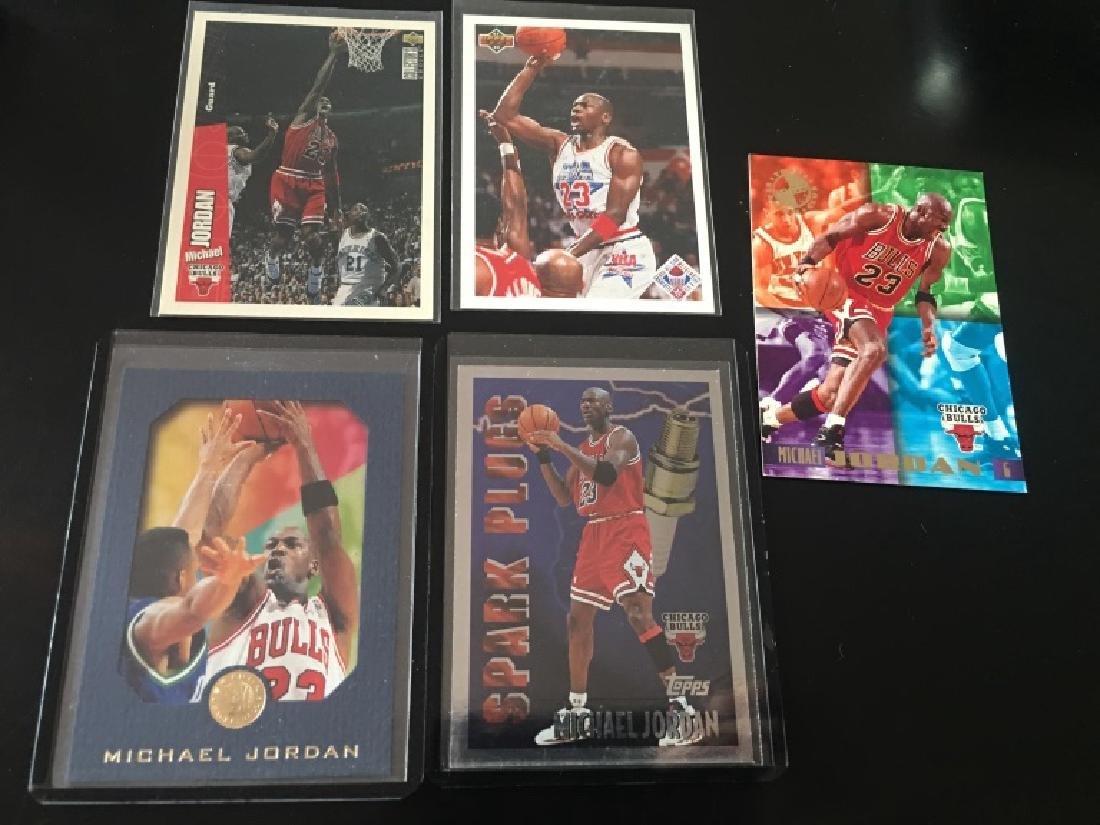 Michael Jordan 5 Card Lot Skybox EX Blue Spark Plg
