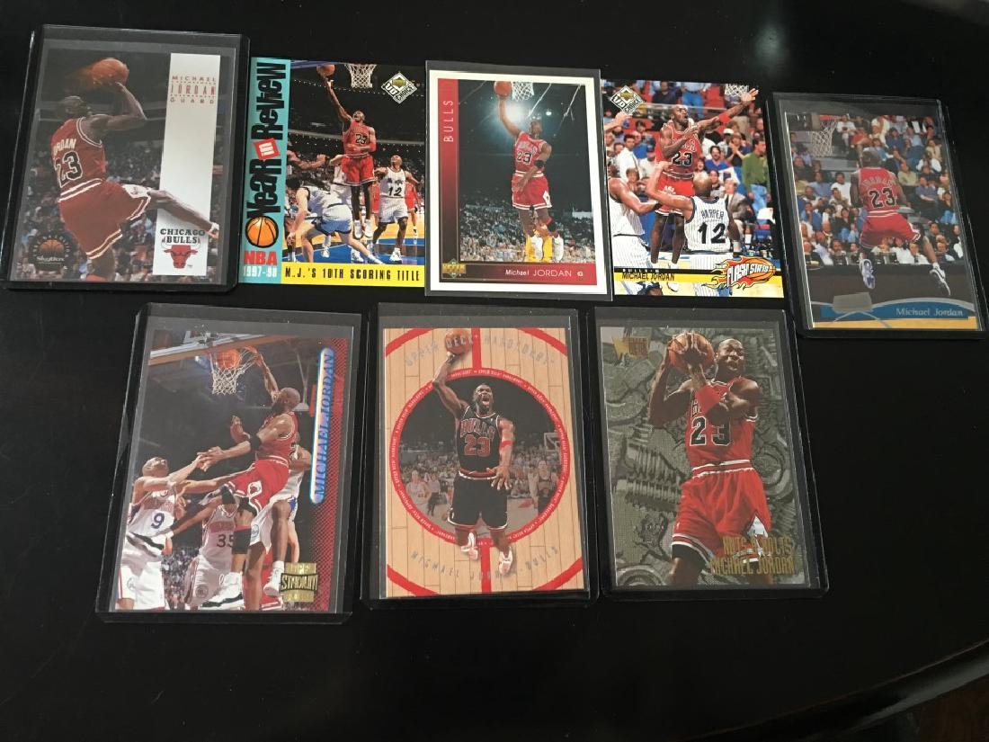 Michael Jordan 8 Card Basketball Lot
