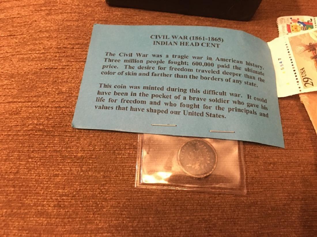 Civil War Indian Head Cent Pocket Knife Stamps - 2