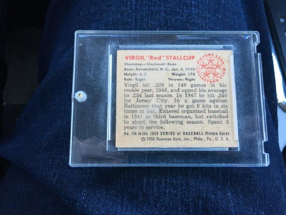 1950 BOWMAN #116 Virgil Red Stallcup Cincinnati Rs - 2