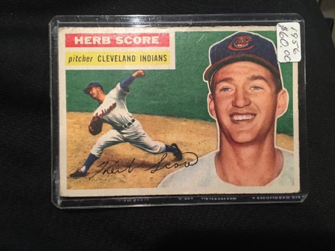 1956 Topps #140 Herb Score  RC Rookie Indians