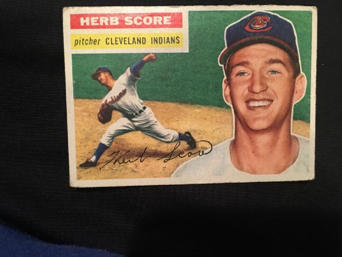 1956 Topps #140 Herb Score  RC Rookie Indians - 2