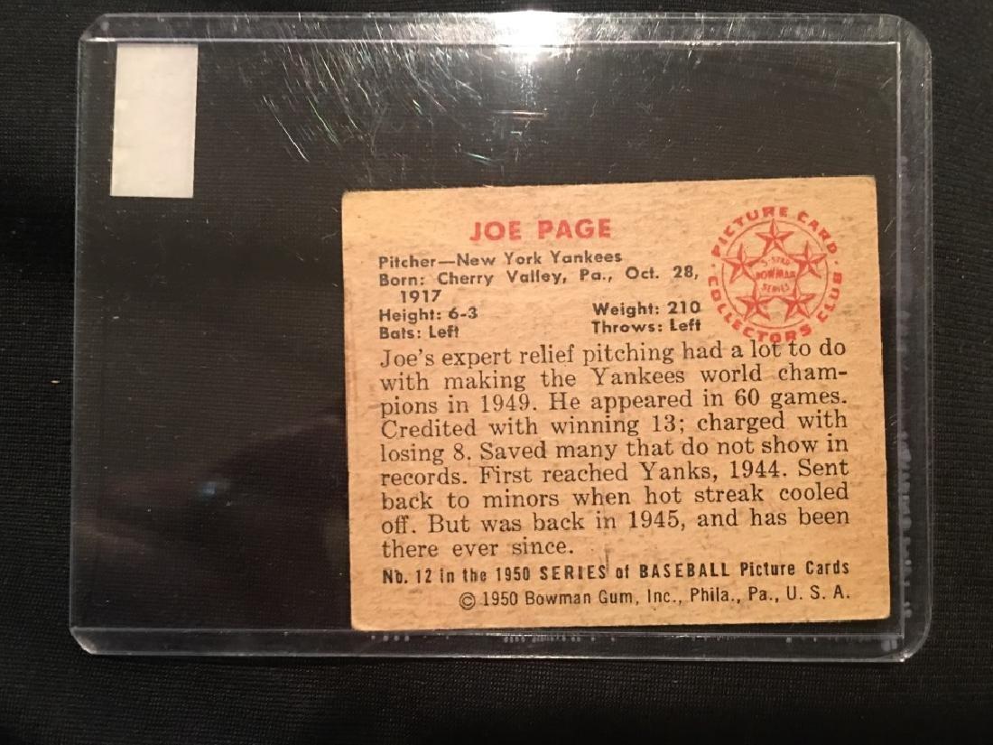 1950 Bowman JOE PAGE #12 *New York Yankees - 3