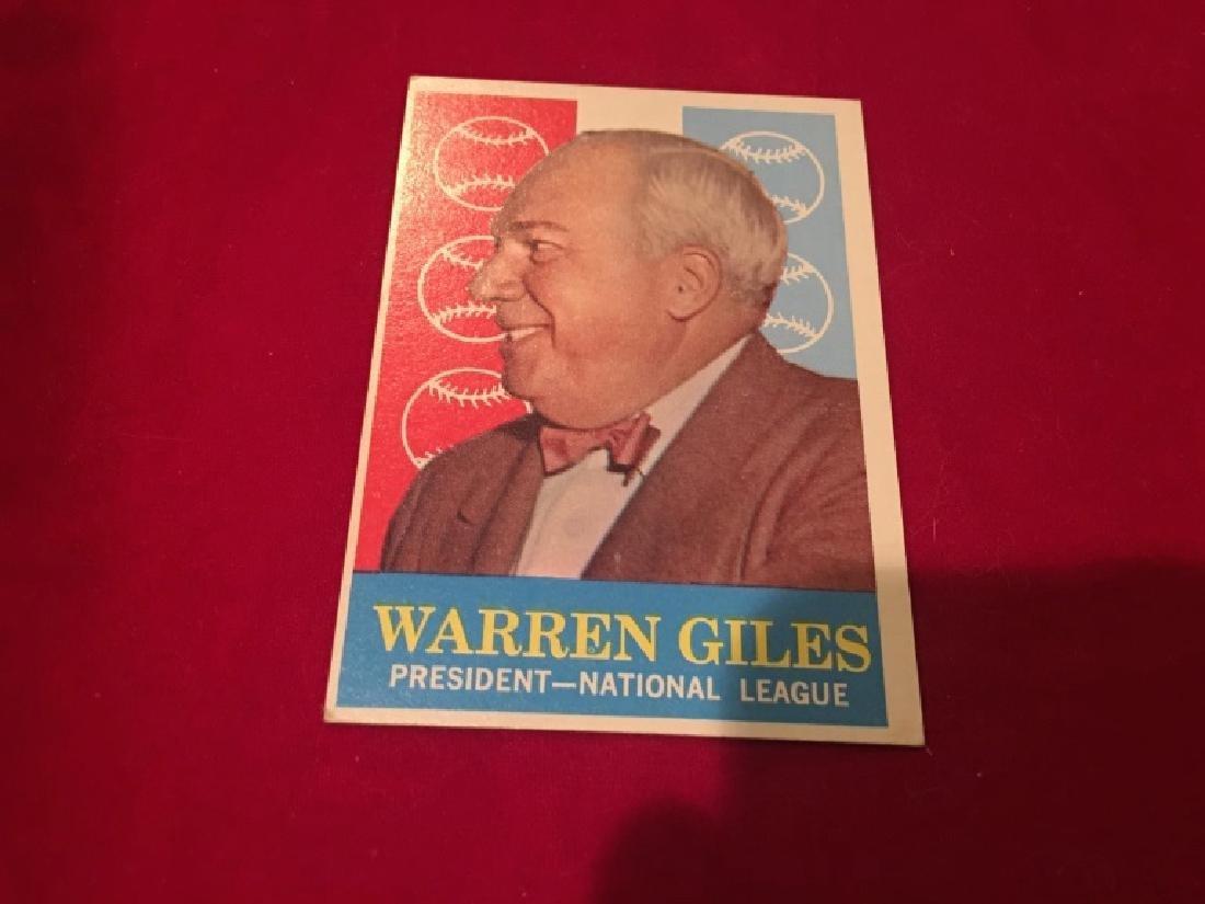 1959 Topps #200 Warren Giles NL President