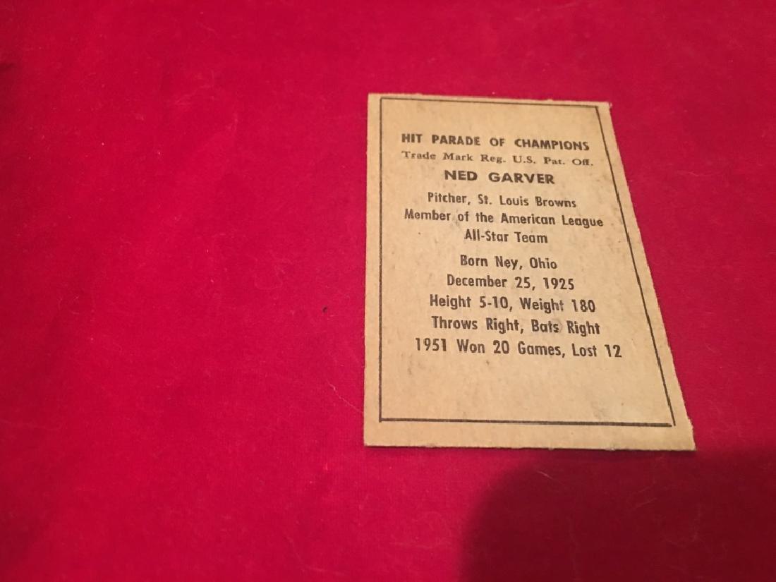 1952 BERK ROSS NED GARVER BROWNS EX-MT - 2