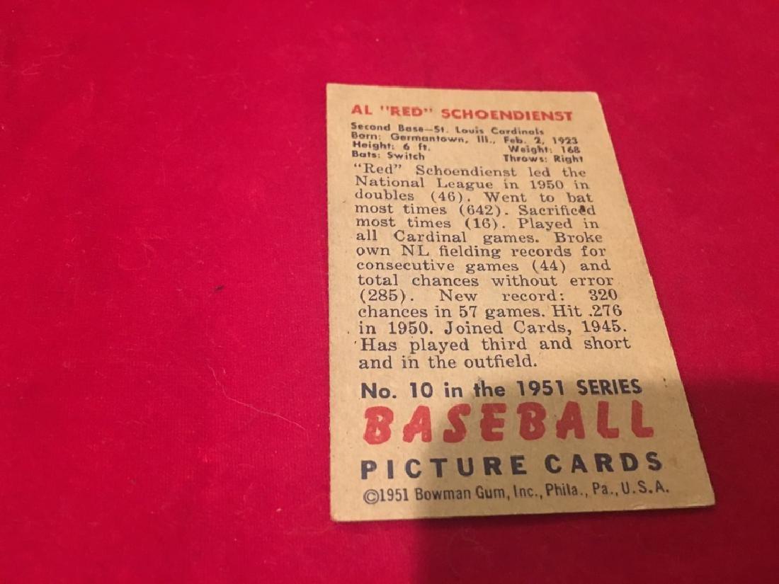 1951 Bowman Set Break #10 Red Schoendienst - 3