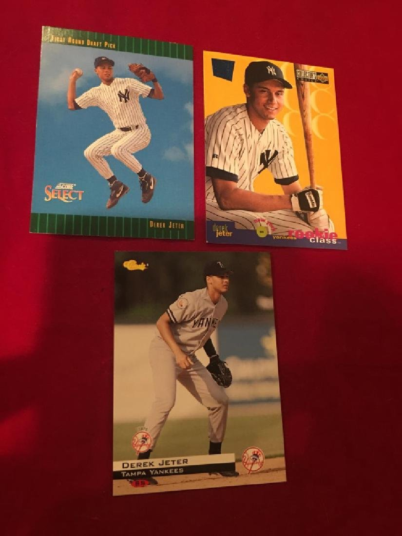 Derek Jeter 3 Card RC Lot