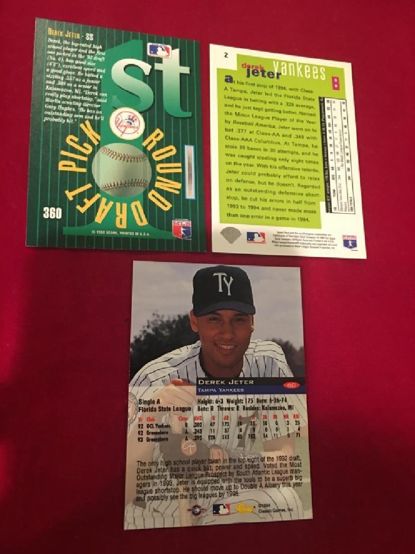 Derek Jeter 3 Card RC Lot - 2