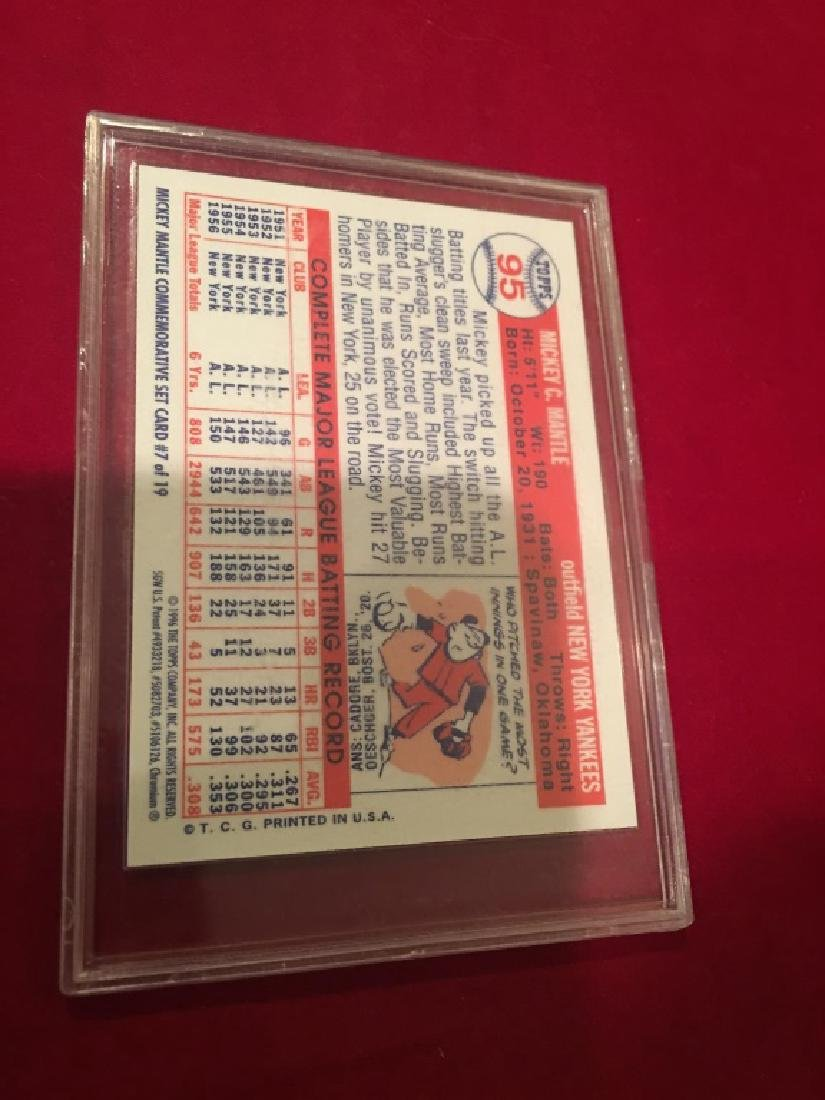MICKEY MANTLE TOPPS 1996 CHROME MICKEY MANTLE COM - 2