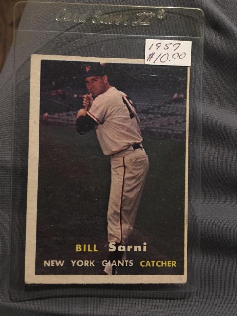 1957 Topps #086 Bill Sarni Giants NM