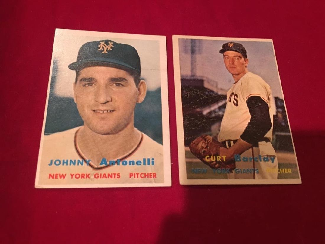 Johnny Antonelli  and Curtis Barclay 1957 Topps l - 2