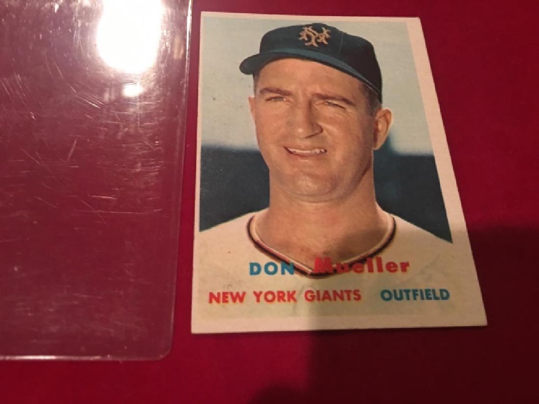 1957 Topps Set Break #148 Don Mueller EX-EXMINT - 2
