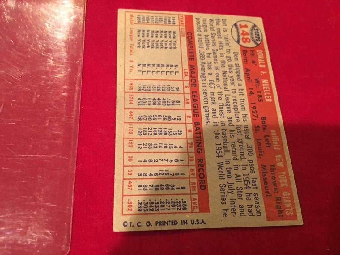 1957 Topps Set Break #148 Don Mueller EX-EXMINT - 3