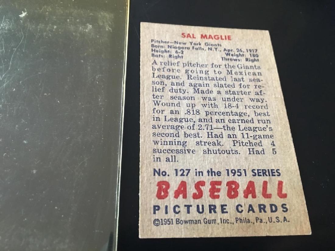 1951 Bowman #127 Sal Maglie RC - 3