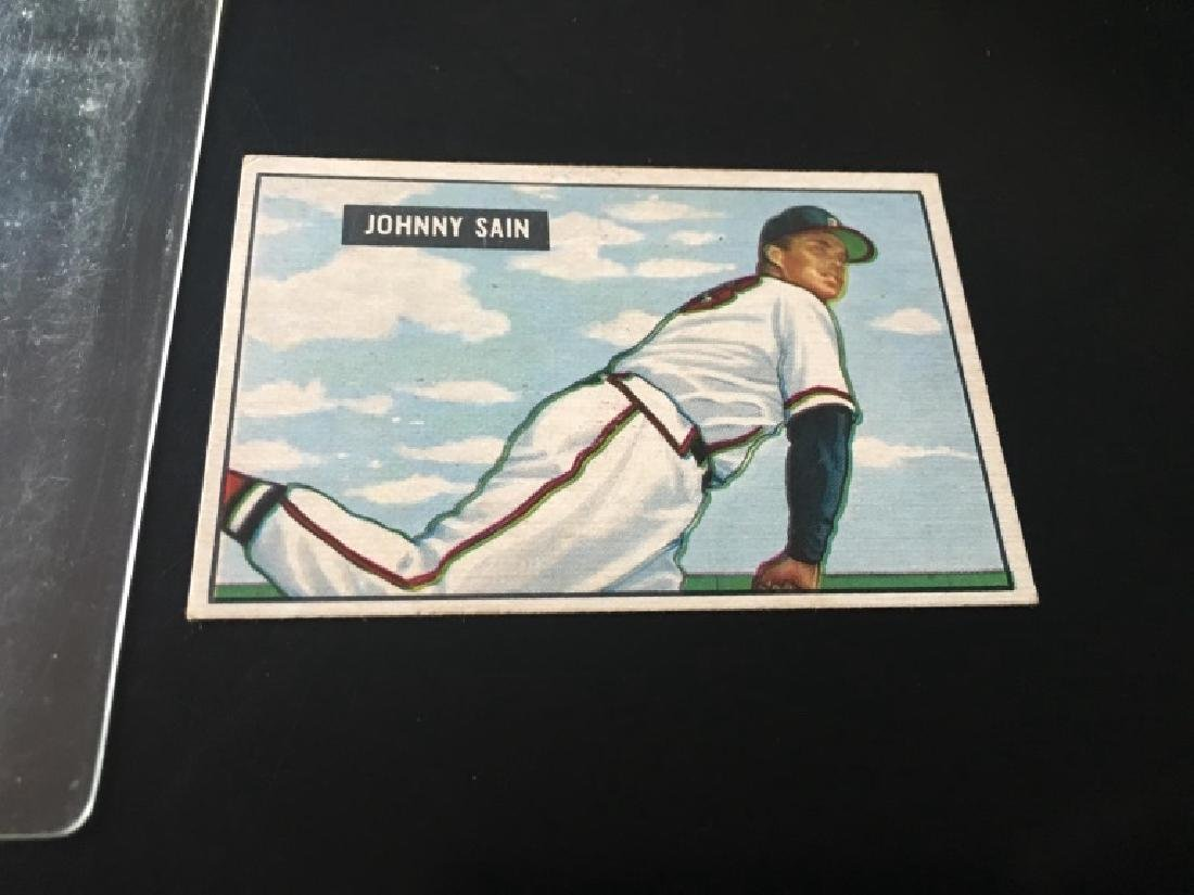 1951 Bowman Set Break #314 Johnny Sain EX/MINT - 2