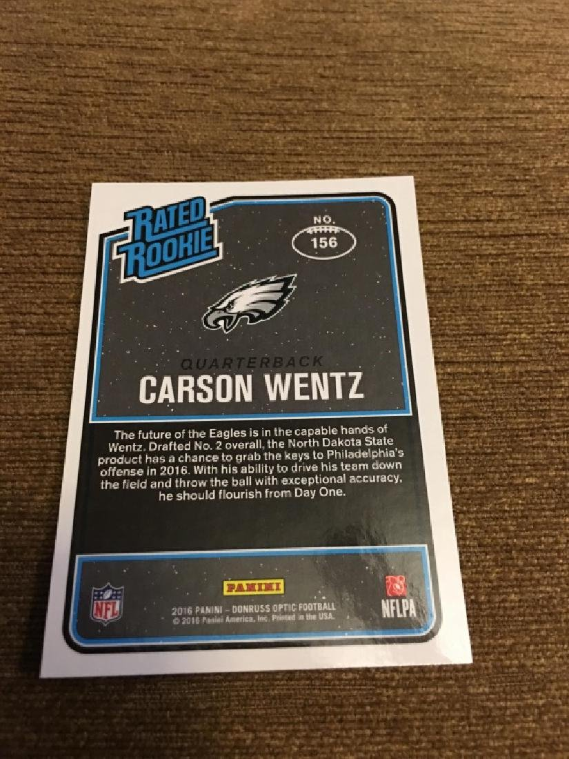 CARSON WENTZ 2016 DONRUSS OPTIC RATED ROOKIE CARD - 2