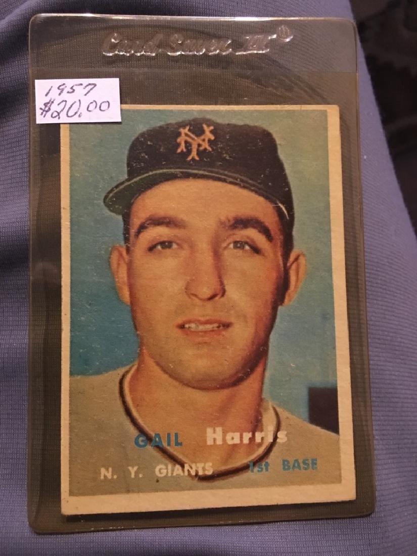 1957 Topps Set Break #281 Gail Harris EX-EXMINT