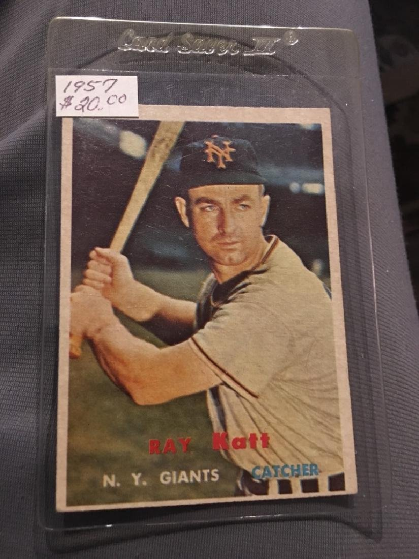 1957 Topps Set Break #331 Ray Katt NR-MINT