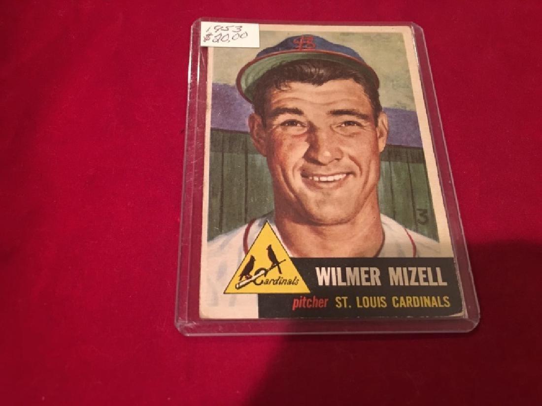 1953 TOPPS #128 WILMER MIZELL CARDINALS