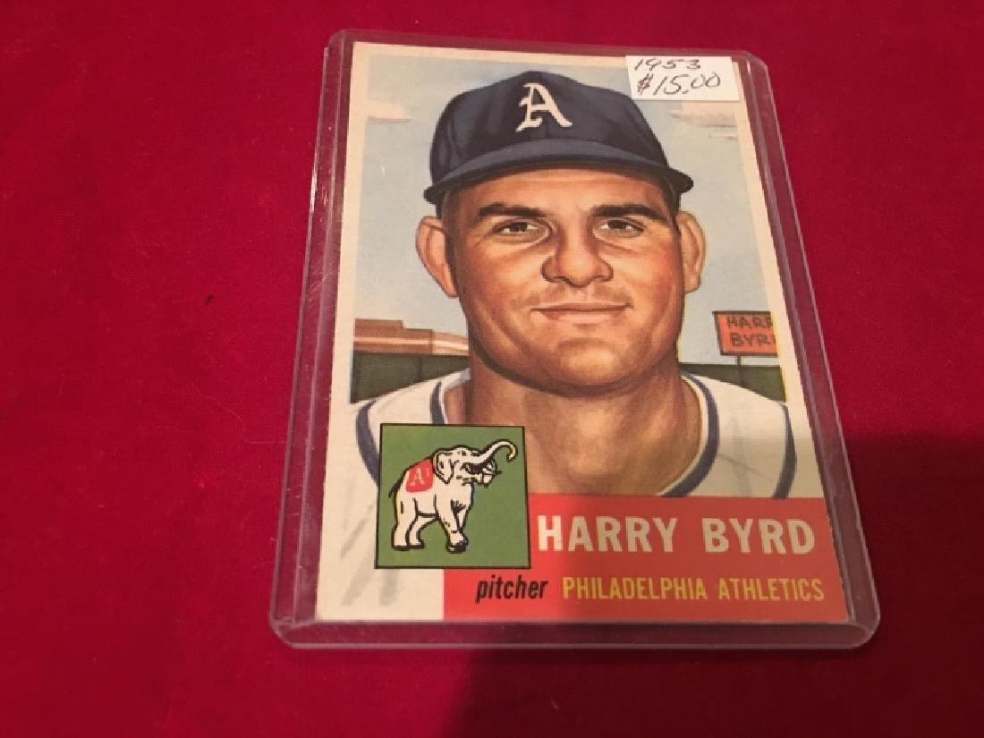 1953 Topps Harry Byrd, Philadelphia Athletics