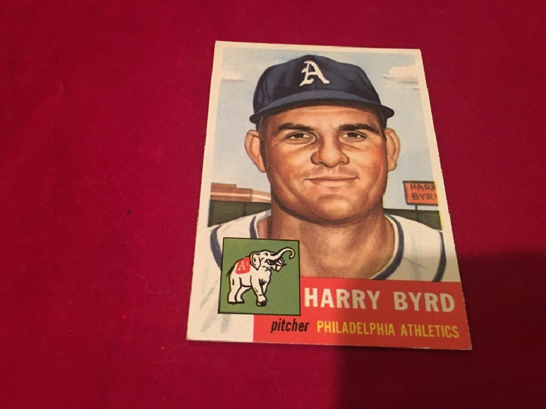 1953 Topps Harry Byrd, Philadelphia Athletics - 2