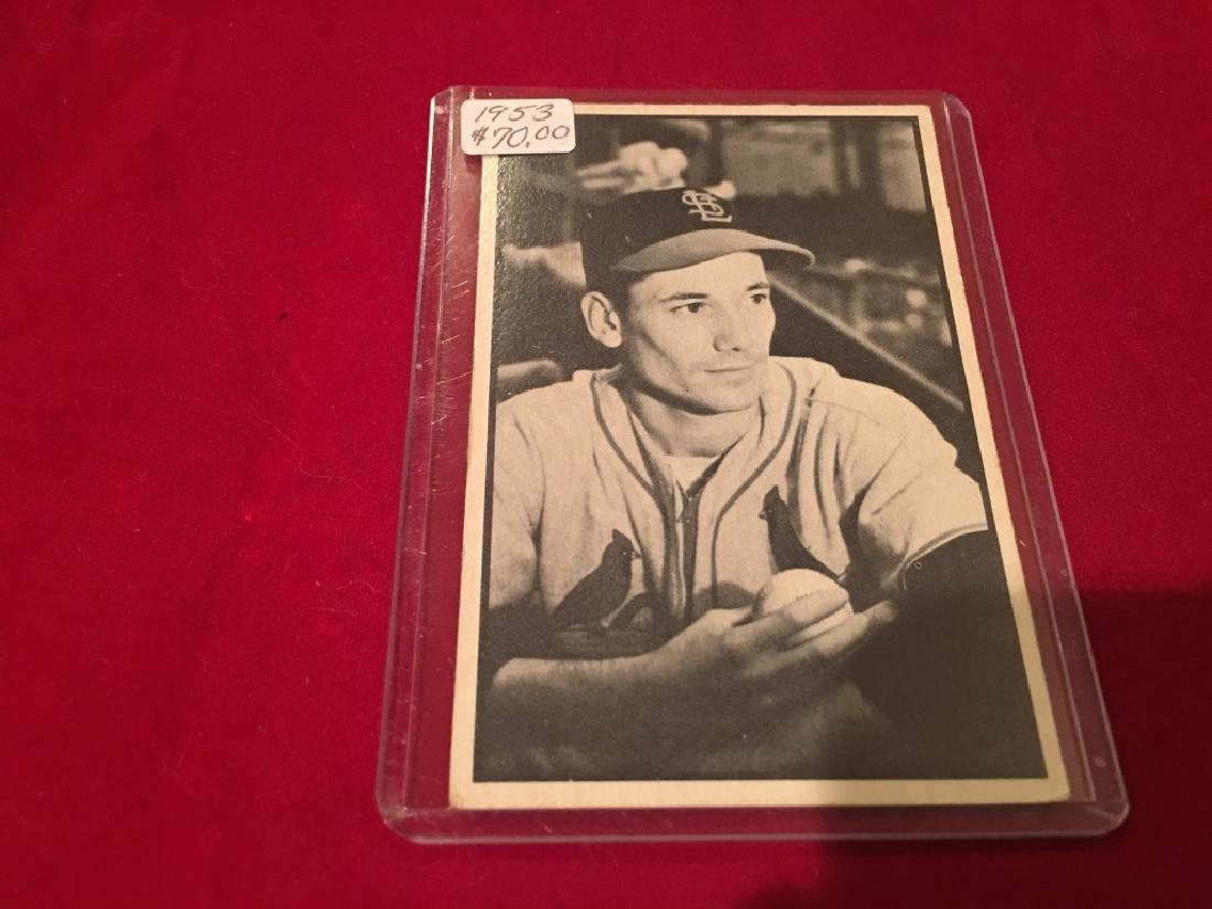 1953 Bowman B&W #16 Stu Miller RC EX-MT