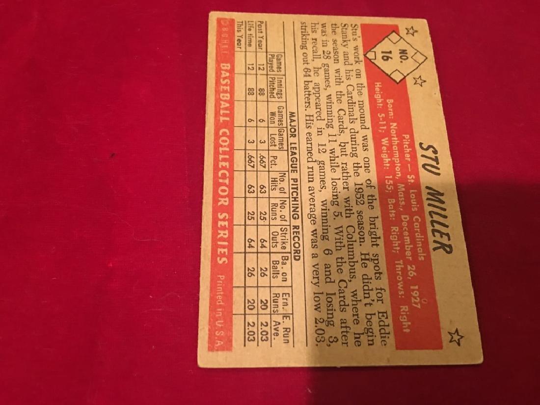 1953 Bowman B&W #16 Stu Miller RC EX-MT - 3