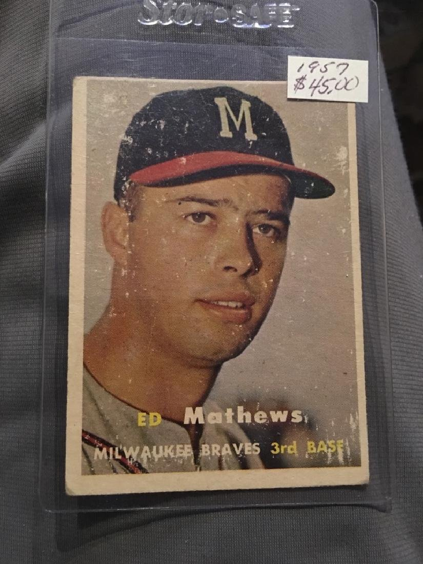 1957 Topps #250 Ed Mathews Braves