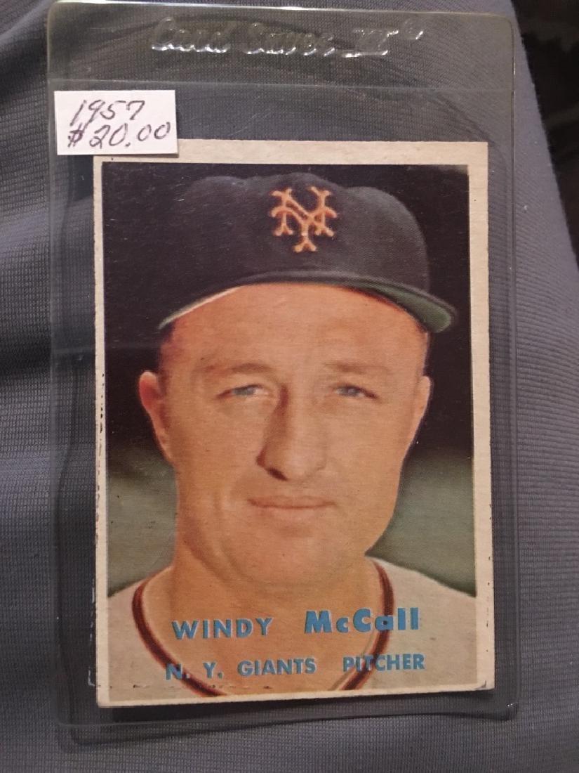 1957 Topps Set Break #291 Windy McCall