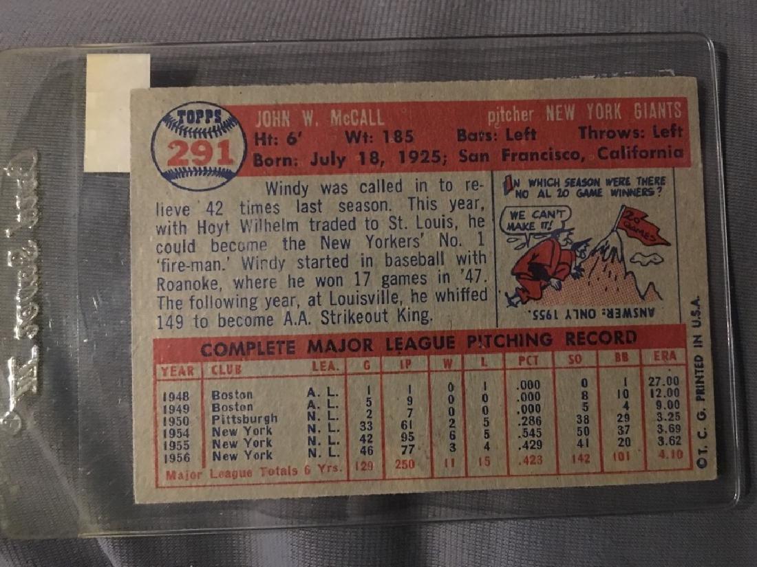 1957 Topps Set Break #291 Windy McCall - 2