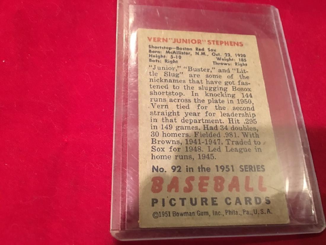 1951 Bowman Set Break #92 Vern Stephens - 2