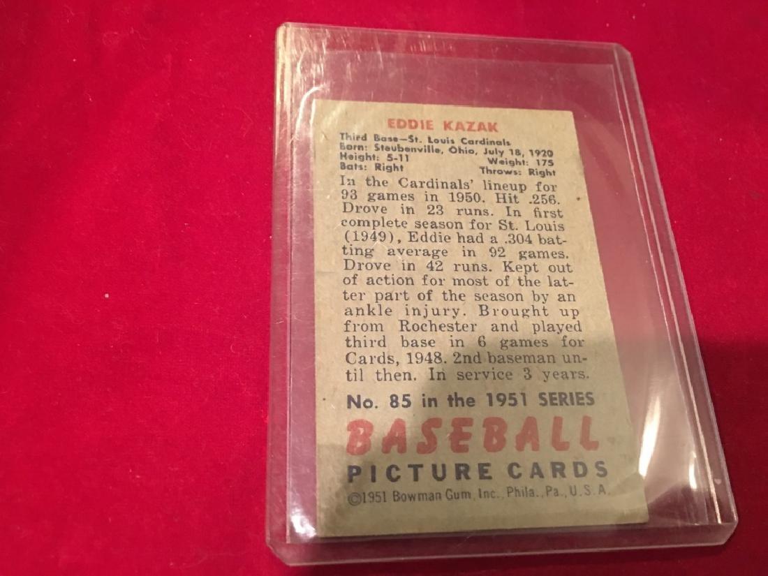 1951 Bowman #85 Eddie Kazak - St Louis Cardinals - 2