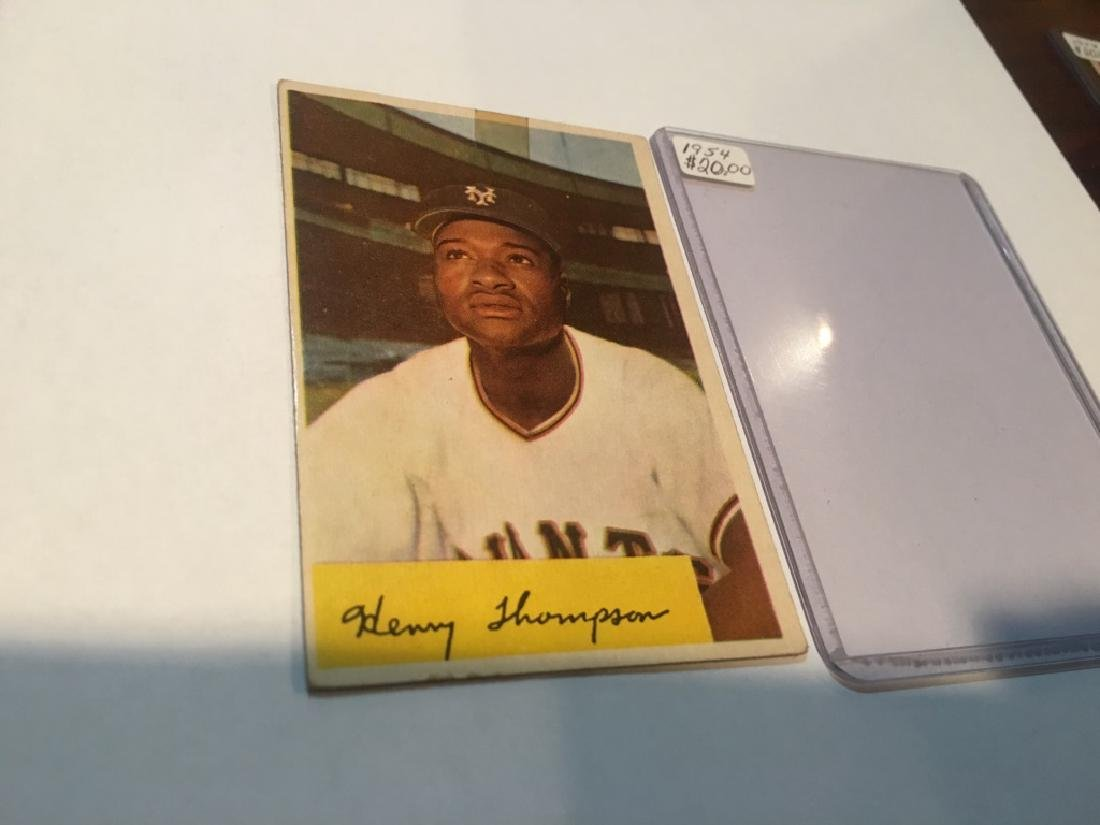 1954 Bowman #217 Henry Thompson Giants - 2