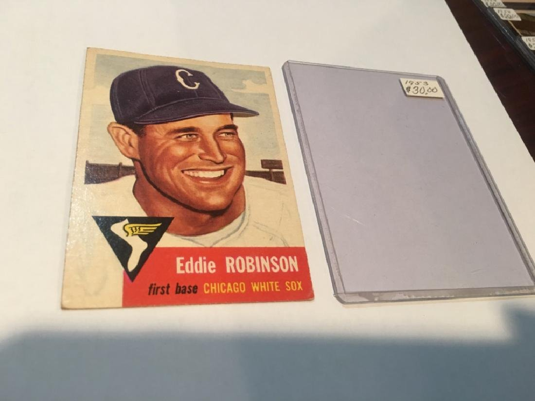 1953 Topps Eddie Robinson #73 Baseball Card