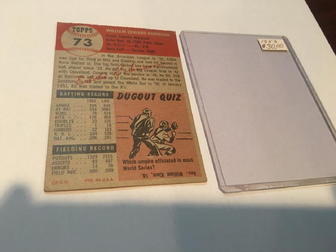 1953 Topps Eddie Robinson #73 Baseball Card - 3