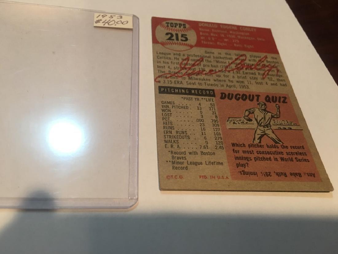 1953 Topps #215 Gene Conley RC - 2