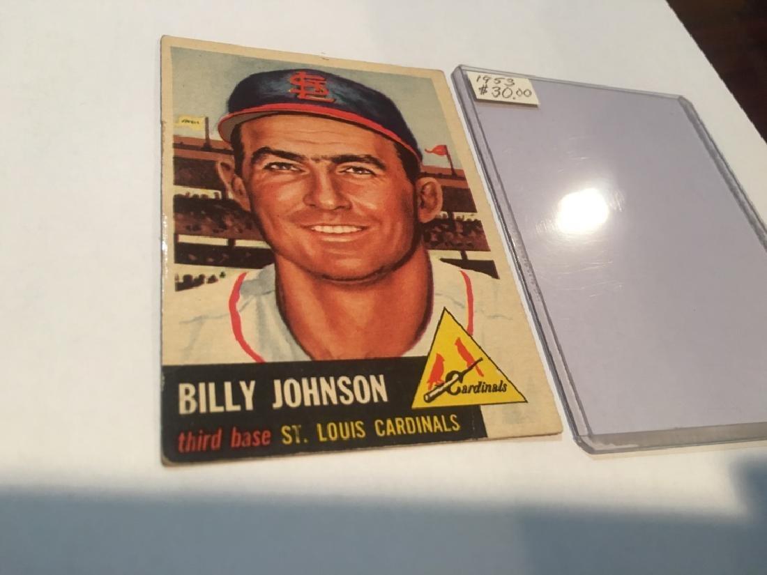 1953 TOPPS #21 Billy Johnson St louis Cardinals SP