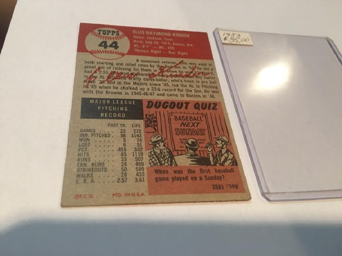1953 Topps 44 Ellis Kinder SP - 2