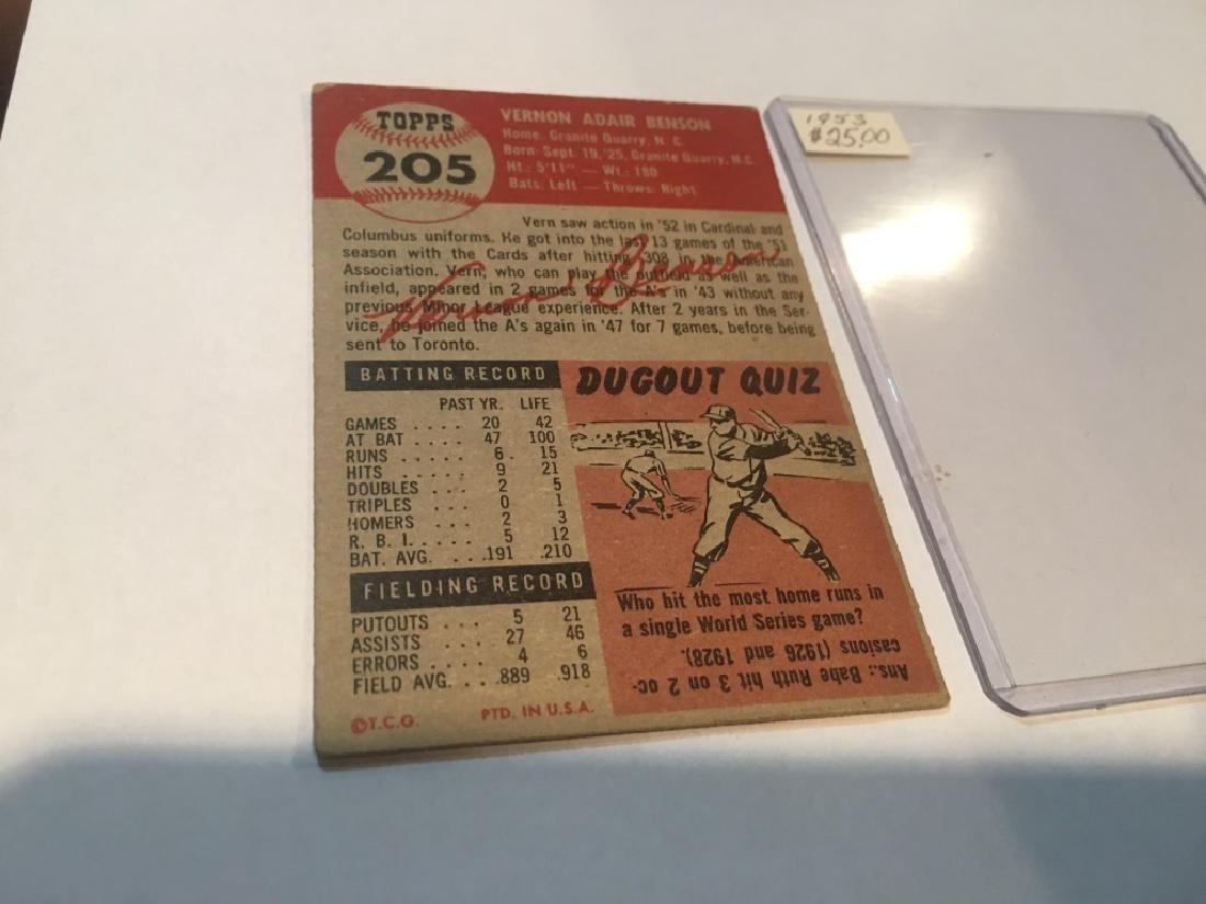1953 TOPPS VERN BENSON #205 (25.00) - 2